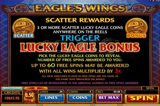 eagles wings scatte -bonus