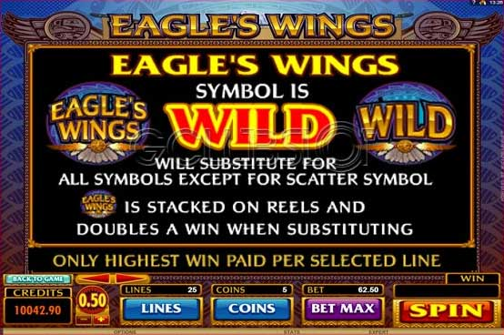 eagles wings slot wild